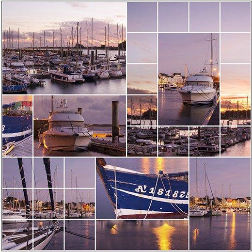 Crépuscule sur le port d'Etel