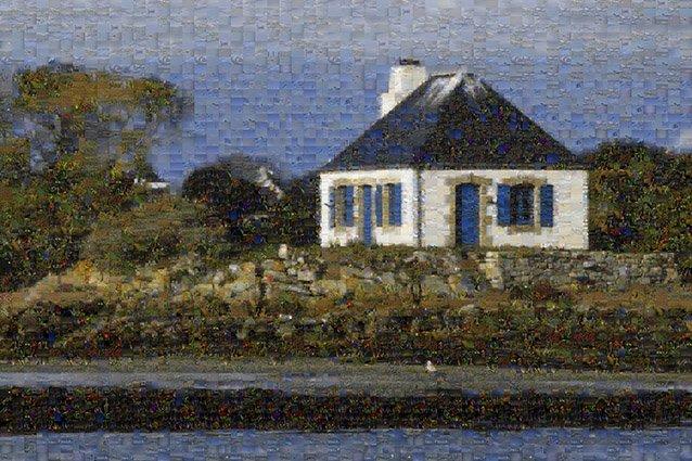 Plouhinec-Etel - Nohic vu de la ria matin 8 Mosaic