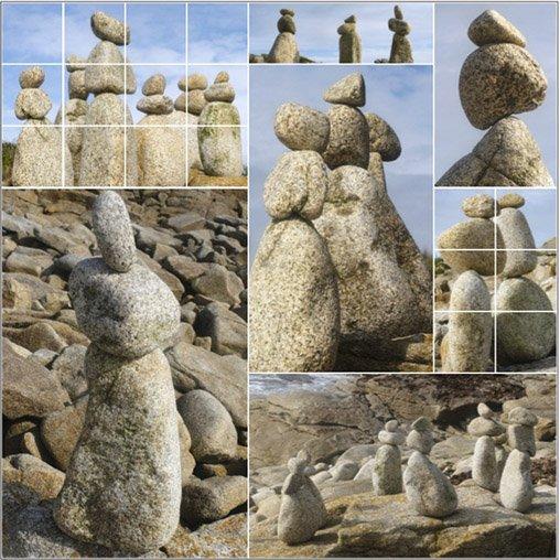 Cairns sur la plage – Plobannalec-Lesconil