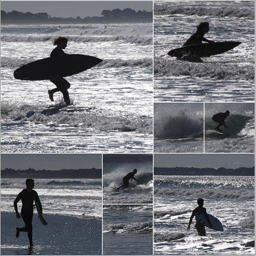Surfeurs à Plouharnel